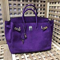 Брендовая замшевая сумка 35 см Luxe копия
