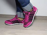 Яркие женские кроссовки (текстиль)