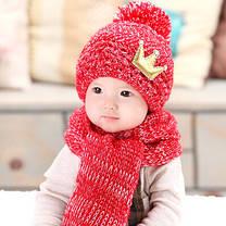 Шапка и шарф корона, фото 2