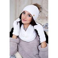 Комплект «Аризона» (шапка, шарф-снуд и перчатки)