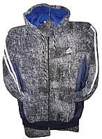 Костюм спорт мужской с капюшоном Adidas прямые на флисе (деми)