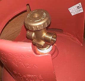 Безпечний побутовий газовий балон металевий