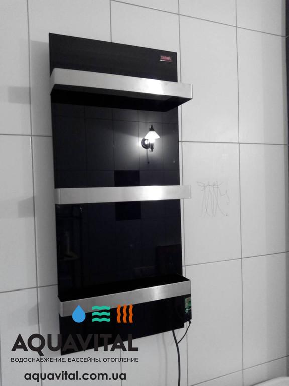 Установка керамического полотенцесушителя Dimol Standart 07
