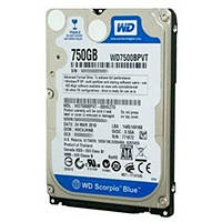 "Жесткий диск 2.5"" 750Gb Western Digital Caviar Blue, SATA2, 8Mb, 5400 rpm (WD7500BPVT) (Ref)"