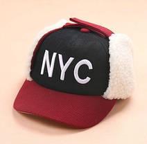 Шапка для мальчика ушанка NYC, фото 2