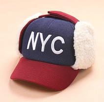 Шапка для мальчика ушанка NYC, фото 3