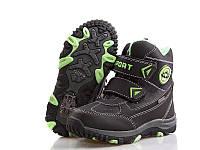 Черные термо-ботинки для мальчика р 33