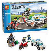 Конструктор Bela Urban 10417 Скоростная полицейская погоня 128 дет (аналог Lego City 60043)