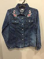 Джинсовая рубашка для девочки, фото 1