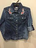 Джинсовая рубашка для девочки 134,158,164 см, фото 3