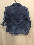 Джинсовая рубашка для девочки 134,158,164 см, фото 4