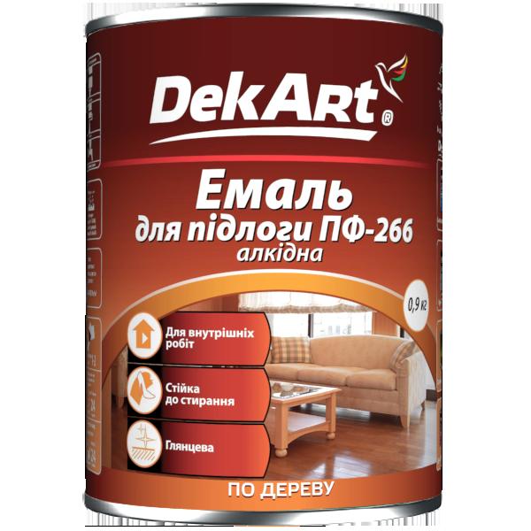 Эмаль алкидная DekArt ПФ-266 красно-коричневая  0,9 кг