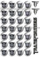 Печать съедобного фото для капкейков - Ø4 см - Вафельная бумага - Трансформеры