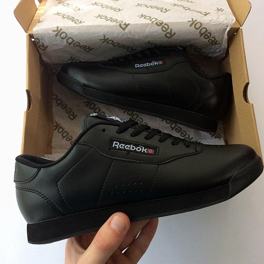 Женские кроссовки в стиле Reebok Princess All Black (36 размер)