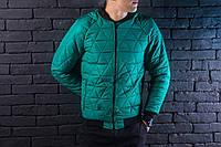 "Мужская осеняя куртка Pobedov Jacket ""Progress"" Green (S, L размеры)"