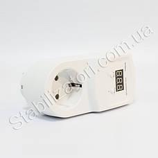 HS-Electro УКН-10р - реле контролю напруги в розетку, відсікач для холодильника, АВР бар'єр, фото 3