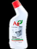 Ag+ Гель для чистки туалету 750мл Антибактеріальний (4823015926990)