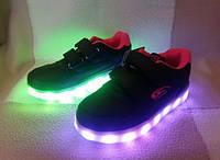 LED - кроссовки детям, заряжаются от USB, р. 26-37