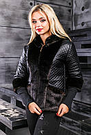 Куртка-полушубок из экомеха  под норку