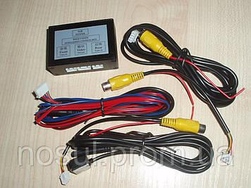 Переключатель свитчер изображения камеры автомобиля переднего и заднего вида, вывод на монитор