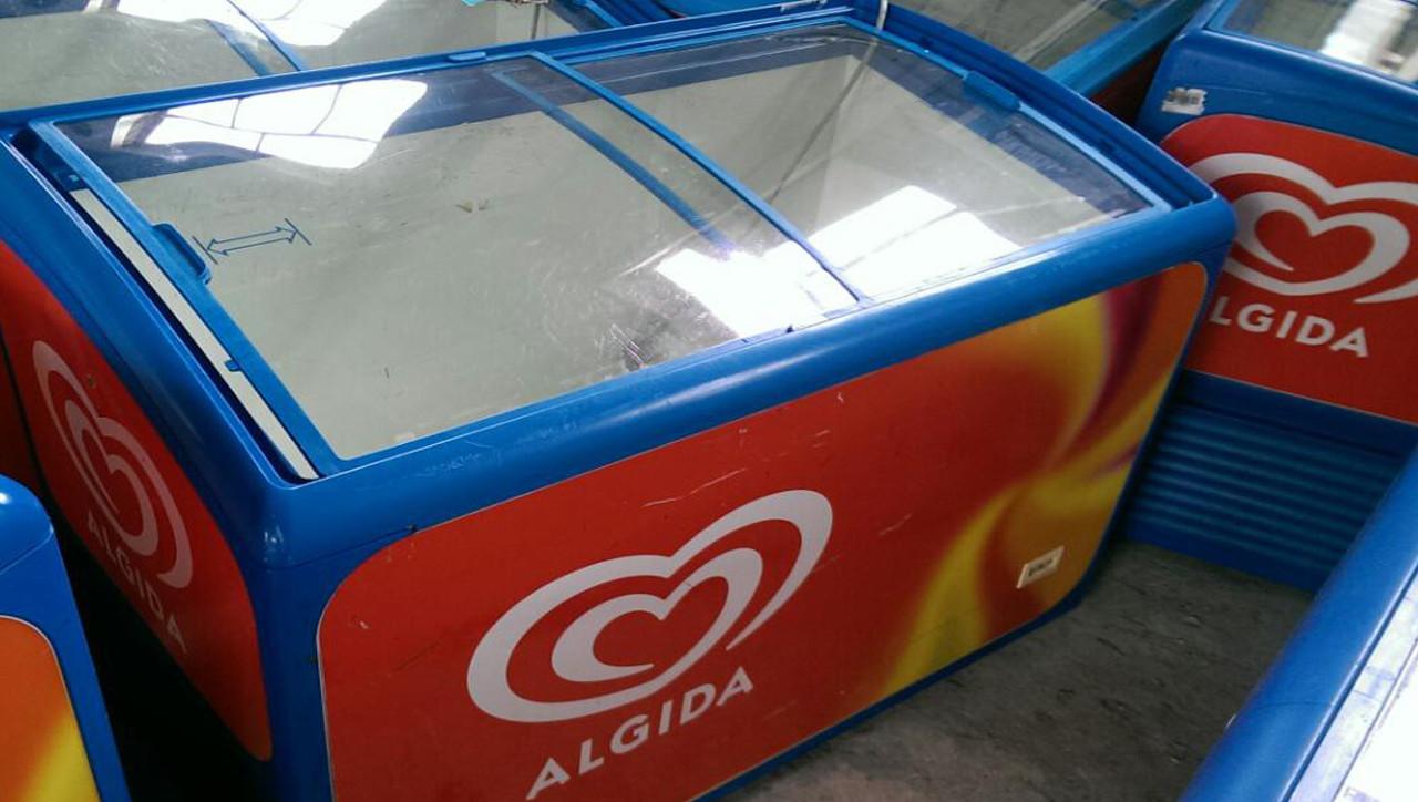 Морозильный ларь бу с гнутым стеклом АНТ 400 л - ФОП Артемов Н.Р. в Украине