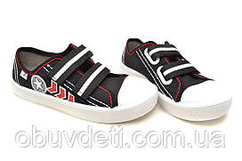 Детские кеды для мальчика черные 3F 30-19.3 см
