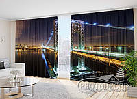 """Фото Шторы в зал """"Мост Дж. Вашингтона"""" 2,7м*5,0м (2 полотна по 2,5м), тесьма"""