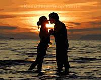 Картина по номерам Влюблённые на закате (GX4856)