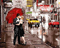 Картина по номерам Поцелуй под зонтом (GX5003)