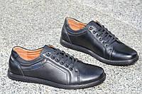 Туфли, мокасины мужские популярные черные искусственная кожа Китай 2017. (Код: 853а), фото 1