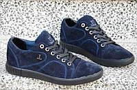 Туфли, мокасины мужские натуральная замша темно синие универсальные Харьков (Код: 863а). Только 41р!, фото 1