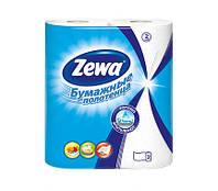 "Полотенца бумажные  2рул. ""Zewa Plus""  белые, 2-х слойные"
