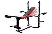 Набор Hop-Sport Premium 48 кг со скамьей HS-1055, фото 2
