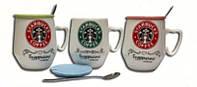 Чашка с крышкой и ложкой 320мл Starbucks Н-207