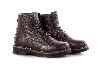 Ботинки женские кожаные на шнурках коричневые