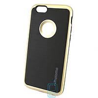Чехол-накладка матовый Motomo iPhone 6 золотистый
