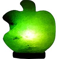 """Соляной светильник """"Яблоко"""" (3-4 кг) с цветной лампочкой """"Артемсоль"""""""