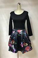 Платье женское черное бэбидол в стиле Dolce&Gabbana с пышной юбкой яркое модное стильное, фото 1