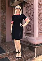 Платье Miu Miu черное короткий рукав