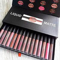 Набор жидких матовых помад Huda Beauty liquid matte 16 шт.