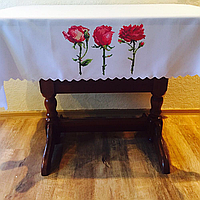 Скатертина с трояндами
