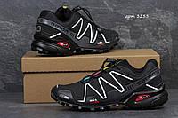 Кроссовки Salomon  Speedcross 3, чёрные с белым