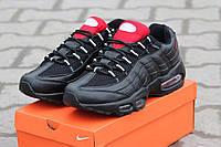 Кроссовки Nike Air Max 95 чёрные с красным