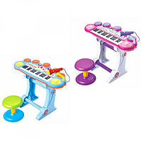 Пианино-синтезатор со стульчиком и микрофоном BB45BD