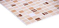 Листовые панели ПВХ Мозаика Кофе коричневый