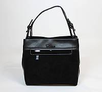 Женская сумка из натурального замша
