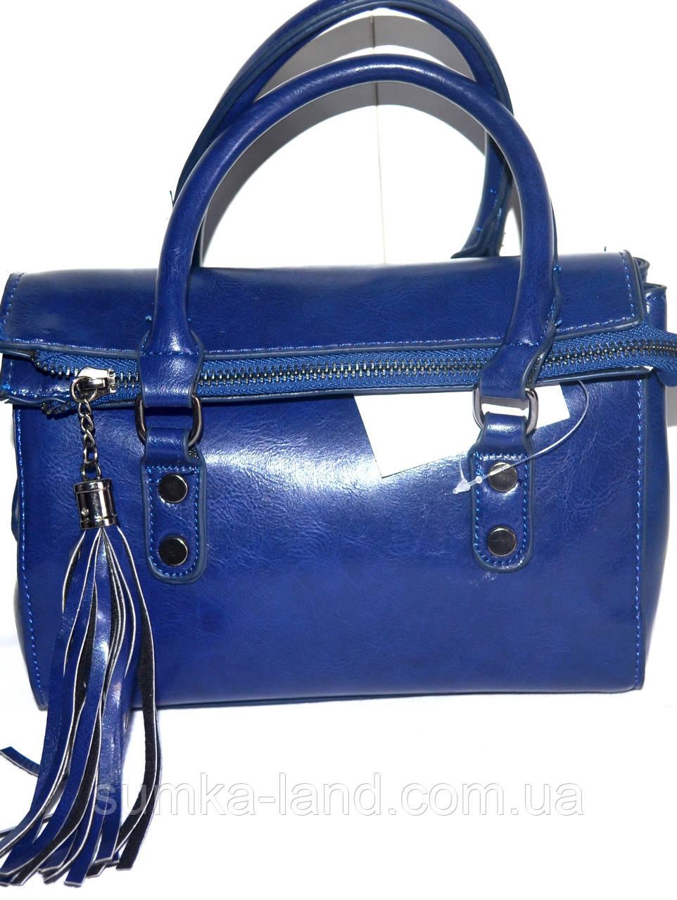 Женские маленькие сумочки 21*17 синий