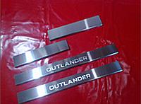 Защитные хром накладки на пороги mitsubishi outlander II xl (митсубиси аутлендер хл) 2006-2012