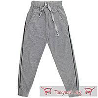 Серые штаны на манжете для девочек Размеры: 128-140-152-164 см (5611-2)