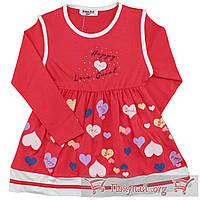Платье длинный рукав для девочки Размеры: 110-116-122-128 см (5616-3)